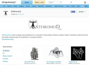 Shapeways Shop Main Page